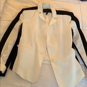 BCBG black/white blazer
